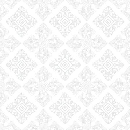 White vintage geometric texture in art deco style Illustration