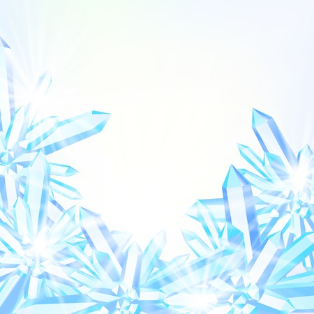 winter wonderland: Vector card with winter decor