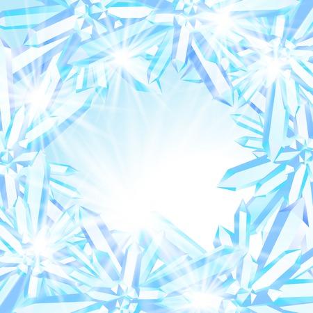 Fonkelende ijskristallen