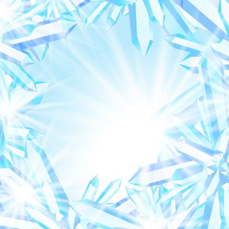 crystal background: Sparkling ice crystals Illustration