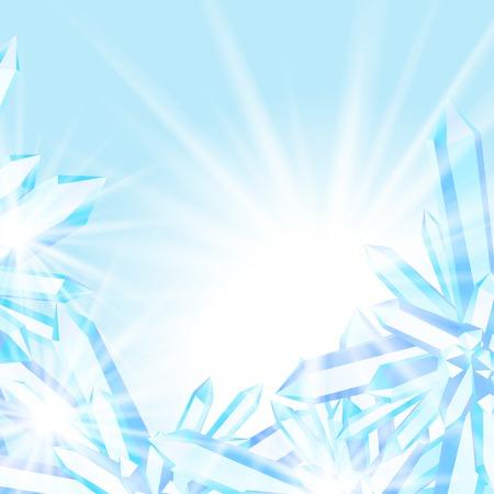 rock salt: Sparkling ice crystals Illustration