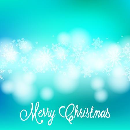 ベクトル カード クリスマス ライトと雪  イラスト・ベクター素材
