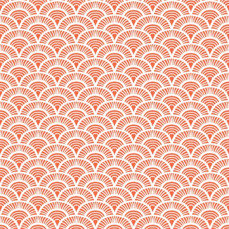 Vintage hand drawn art deco pattern with scale motifs. Vector seamless background in 1930s and 1920s fashion style Vettoriali