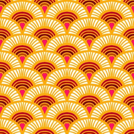 Vintage hand getekende art deco patroon