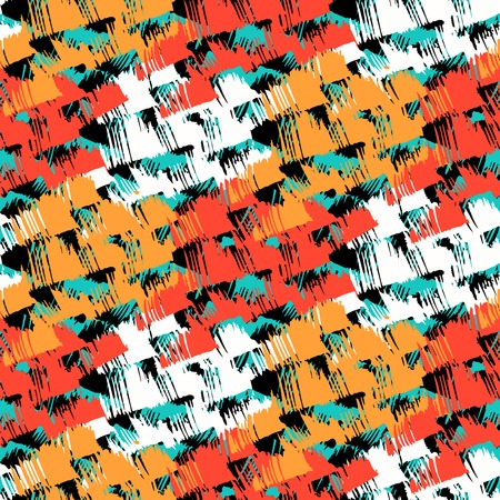 crosshatch: Grunge hand painted abstract pattern Illustration