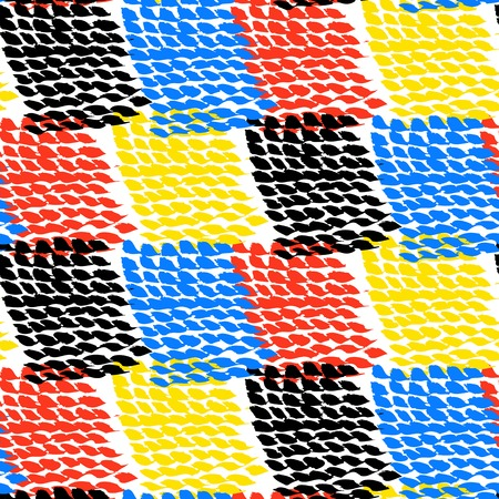 hand woven: Hand painted color blocked vector pattern