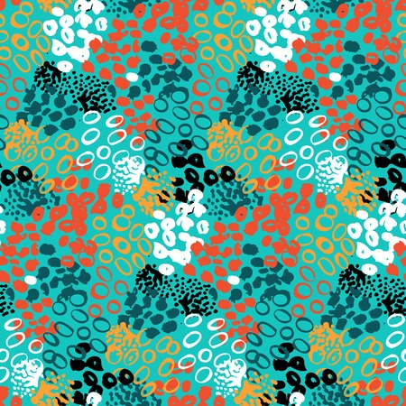 hand painted: Hand painted vector pattern with splatters