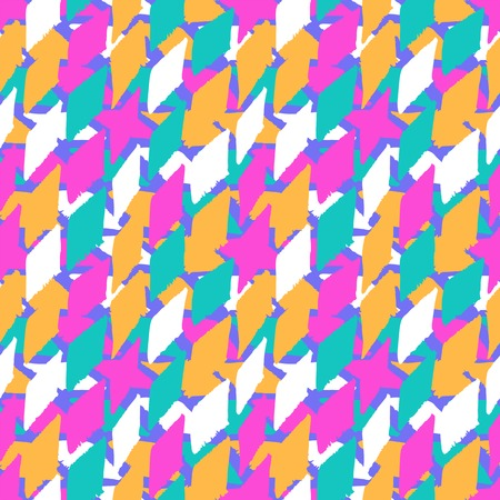 swooshes: Vector seamless bold harlequin pattern
