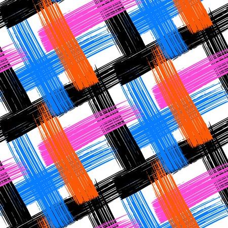 cross hatch: Vector seamless bold plaid pattern