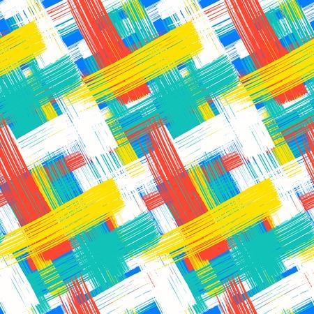 シームレスな大胆な格子縞パターン ベクトル  イラスト・ベクター素材