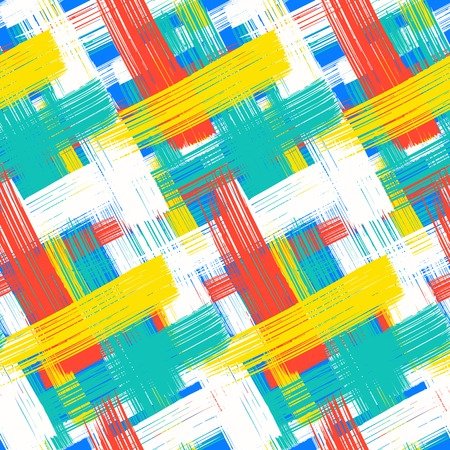 Vector seamless bold plaid pattern Vector
