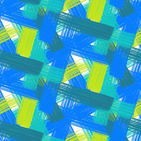 brushstrokes: Vector seamless bold plaid pattern
