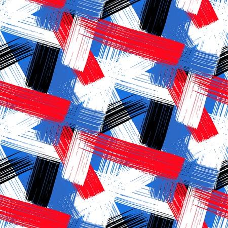 lineal: Vector sin patrón audaz de la tela escocesa