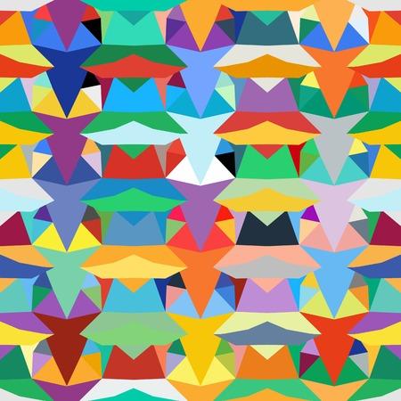 blocked: Colorful geometric pattern Illustration