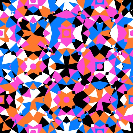 harlequin: Colorful geometric pattern Illustration