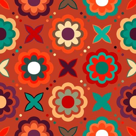 벡터 원활한 플로랄 패턴