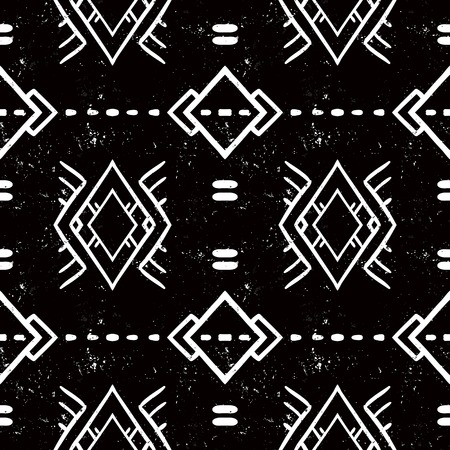 american indian aztec: navajo tribal ornament Illustration