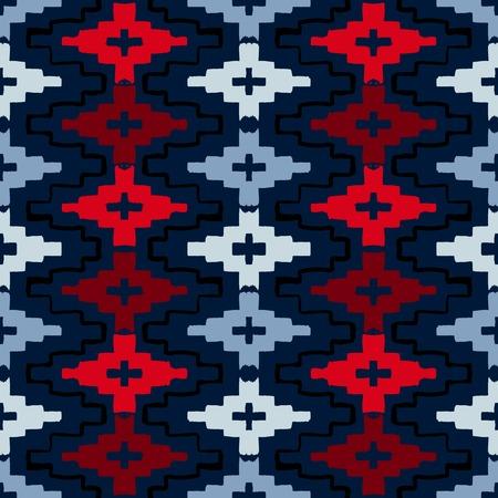 원주민 기하학적 인 패턴 일러스트