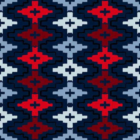 Inheemse Amerikaanse geometrisch patroon Stock Illustratie