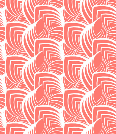 Simple elegant linear vector pattern in 1920s style. Modern art deco background with lines and geometric ornament in bright coral red color Stock fotó - 39763661
