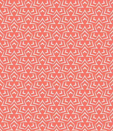 Simple elegant linear vector pattern in 1920s style. Modern art deco background with lines and geometric ornament in bright coral red color Stock fotó - 39763662
