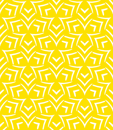 Simple elegant linear vector pattern in 1920s style. Modern art deco background with lines and geometric ornament in bright yellow color Stock fotó - 39763664