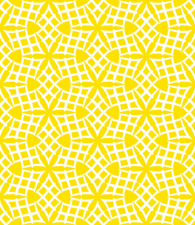 art deco background: Simple elegant linear vector pattern in 1920s style. Modern art deco background with lines and geometric ornament in bright yellow color