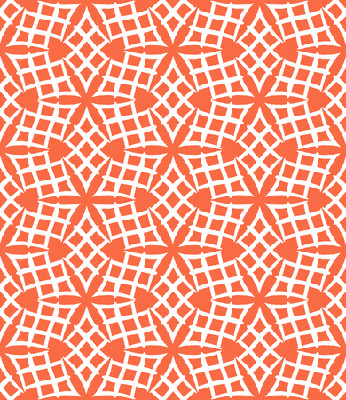 Simple elegant linear vector pattern in 1920s style. Modern art deco background with lines and geometric ornament in bright coral red color