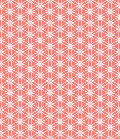 art deco background: Simple elegant linear vector pattern in 1920s style. Modern art deco background with lines and geometric ornament in bright coral red color