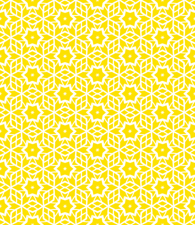 Simple elegant linear vector pattern in 1920s style. Modern art deco background with lines and geometric ornament in bright yellow color