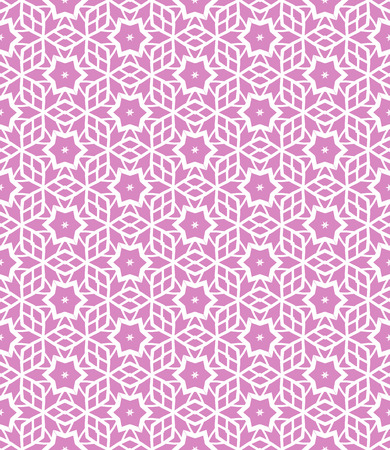 Simple elegant linear vector pattern in 1920s style. Modern art deco background with lines and geometric ornament in bright pink color