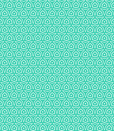 Simple elegant linear vector pattern in 1920s style. Modern art deco background with lines and geometric ornament in bright aqua green color