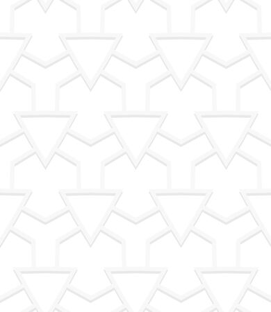 roaring 20s: Vector geometric pattern with art deco motifs. Simple vector texture with triangle shapes in vintage 1920s and 1930s style. Decorative retro background in silver white color for wedding invitations