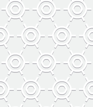 silver white: Vector geometric pattern with art deco motifs. Simple vector texture with round shapes in vintage 1920s and 1930s style. Decorative retro background in silver white color for wedding invitations