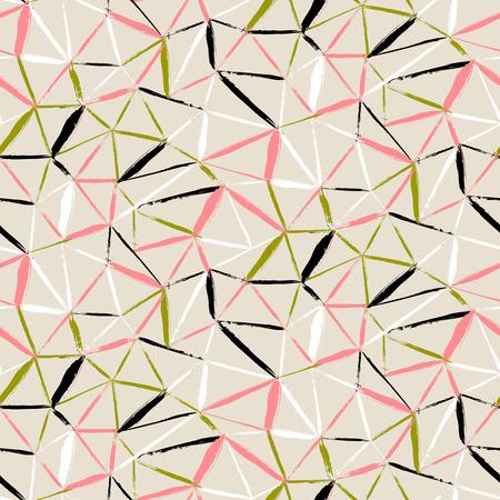 pinceladas: Vector sin patr�n a cuadros en negrilla con pinceladas finas diagonales, rayas finas y tri�ngulos pintados a mano en colores org�nicos suaves. Textura de impresi�n din�mica para oto�o invierno de la moda retro y ropa deportiva