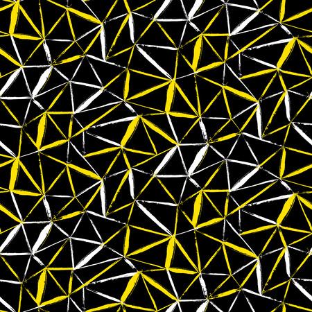 pinceladas: Vector sin patr�n a cuadros en negrilla con pinceladas finas diagonales, rayas finas y tri�ngulos pintados a mano en colores brillantes. Impresi�n de la textura de rayas din�mica para oto�o invierno de la moda retro y ropa deportiva Vectores