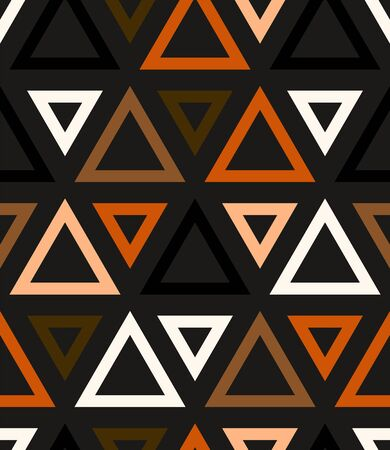 Abstract geometric vector pattern in natural multiple brown colors.