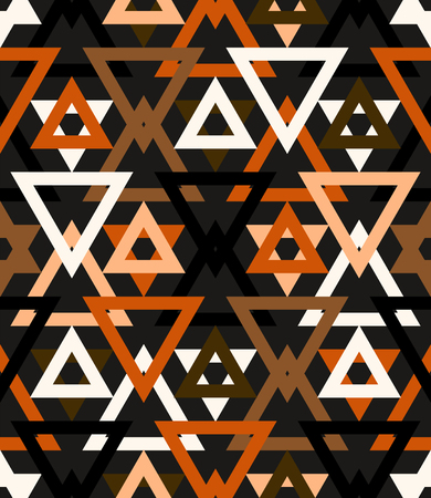 random: Abstract geometric vector pattern in natural multiple brown colors.
