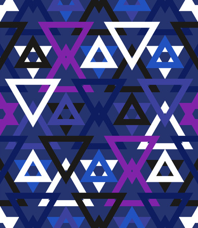 winter colors: Abstract geometric vector pattern in cool multiple winter colors.