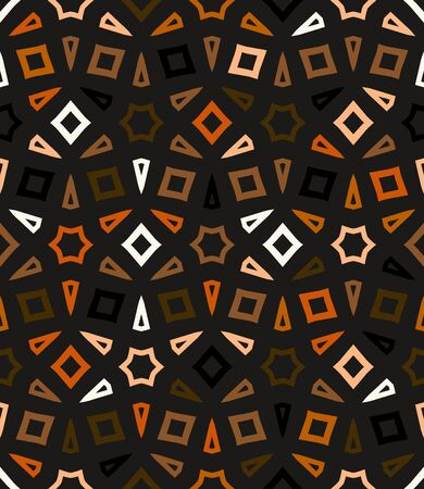 brown: Abstract geometric vector pattern in natural multiple brown colors.