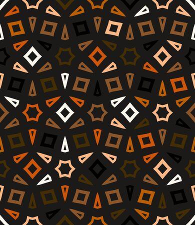 morenas: vector patrón geométrico abstracto en varios colores naturales marrones.