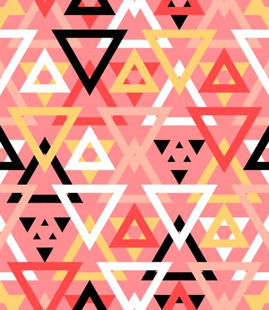 basic shapes: Abstract geometric pattern in natural multiple red colors.