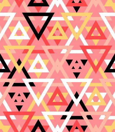 forme: Motif géométrique abstrait en plusieurs couleurs rouges naturels. Illustration