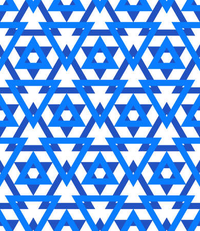 magen david: Abstract geometric vector pattern in blue color.  Illustration