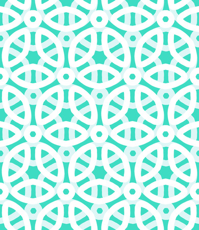 Vector geometric pattern with floral motifs and multicolored simple basic flowers. Ilustração