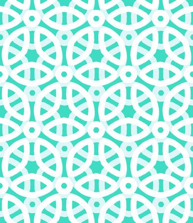 Vector geometrisch patroon met florale motieven en veelkleurige simpele basis bloemen.