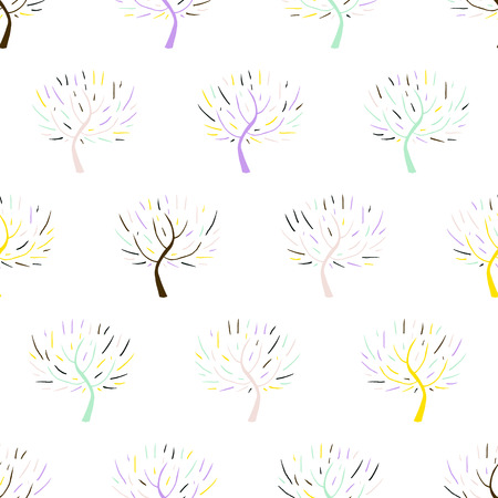 christmas wrapping paper: Simple elegant hand drawn pattern with three silhouettes in white for fall winter fashion or Christmas wrapping paper. Chic natural retro style print with woods and bare branches for baby room decor