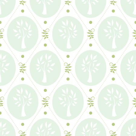 chic: Shabby chic pattern with trees in soft colors