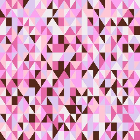 Geometric small ditsy textile print with random colorful triangles in multiple bright pink colors. Modern seamless vector pattern for summer spring fashion Çizim