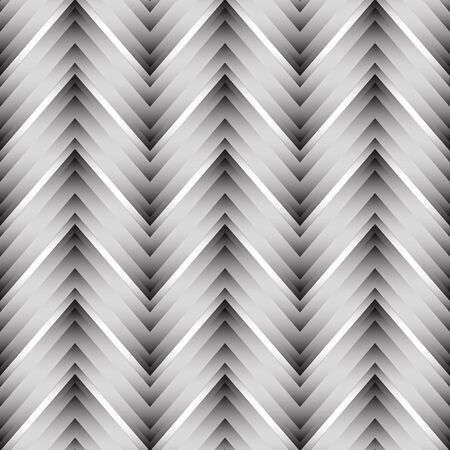 black art: Vector seamless chevron pattern. Zigzag background in black and white. Simple texture in art deco style.